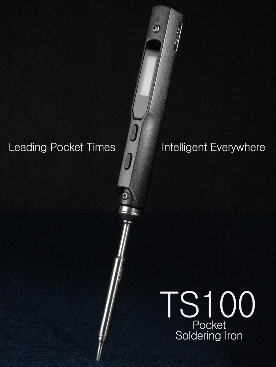 TS100 digitální pájecí stanice s OLED displejem