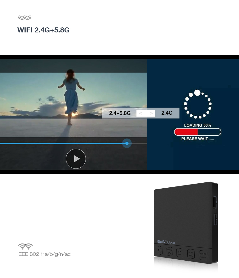 TV Box Mini M8S Pro-C S912 2/16GB Android 7.1