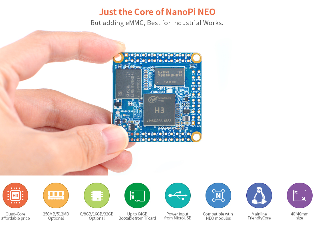 NanoPi NEO Core CPU Board LTS