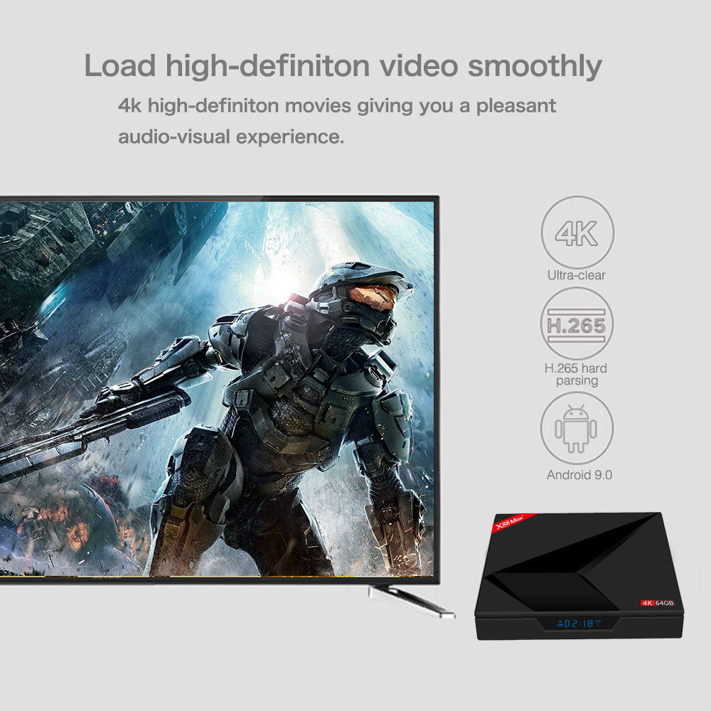 TV Box X88 MAX Plus RK3328 4/64GB Android 9.0 Pie