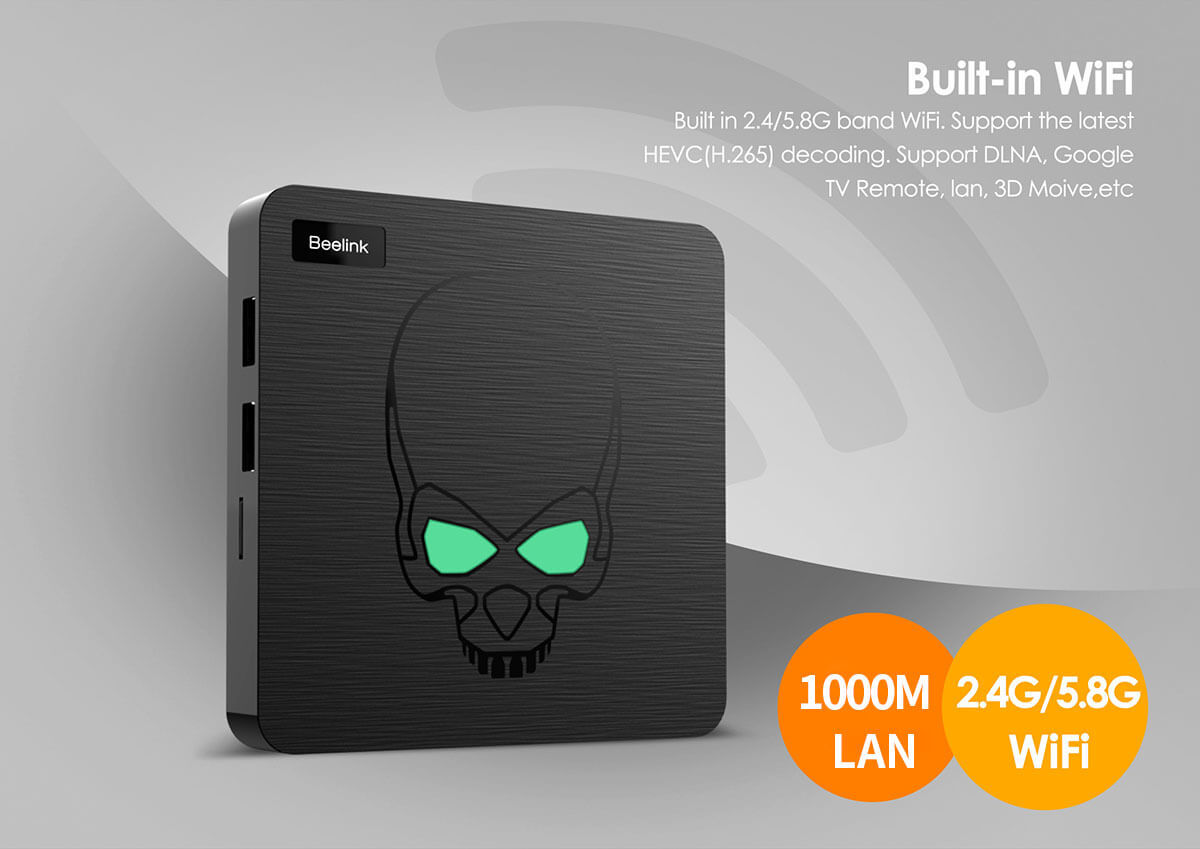 TV box Beelink GT-King S922X 4/64GB eMMC Android 9.0 TV