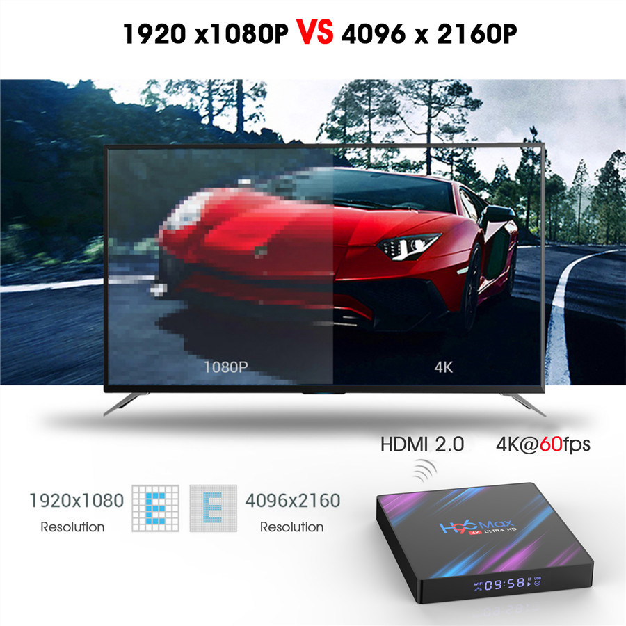 TV Box H96 max RK3318 4/64GB Android 9.0 Pie