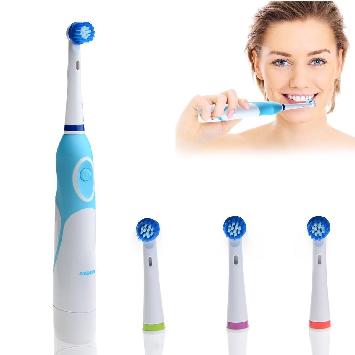 AZ-OC2 elektrický zubní kartáček, 4 hlavice, rotační, bateriový