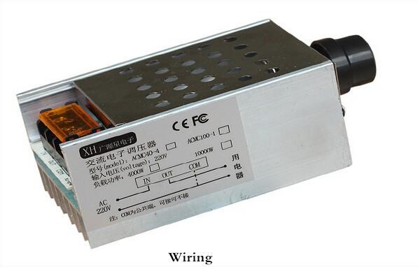 Regulátor otáček pro stejnosměrné AC motory - SCR 220V/4kW