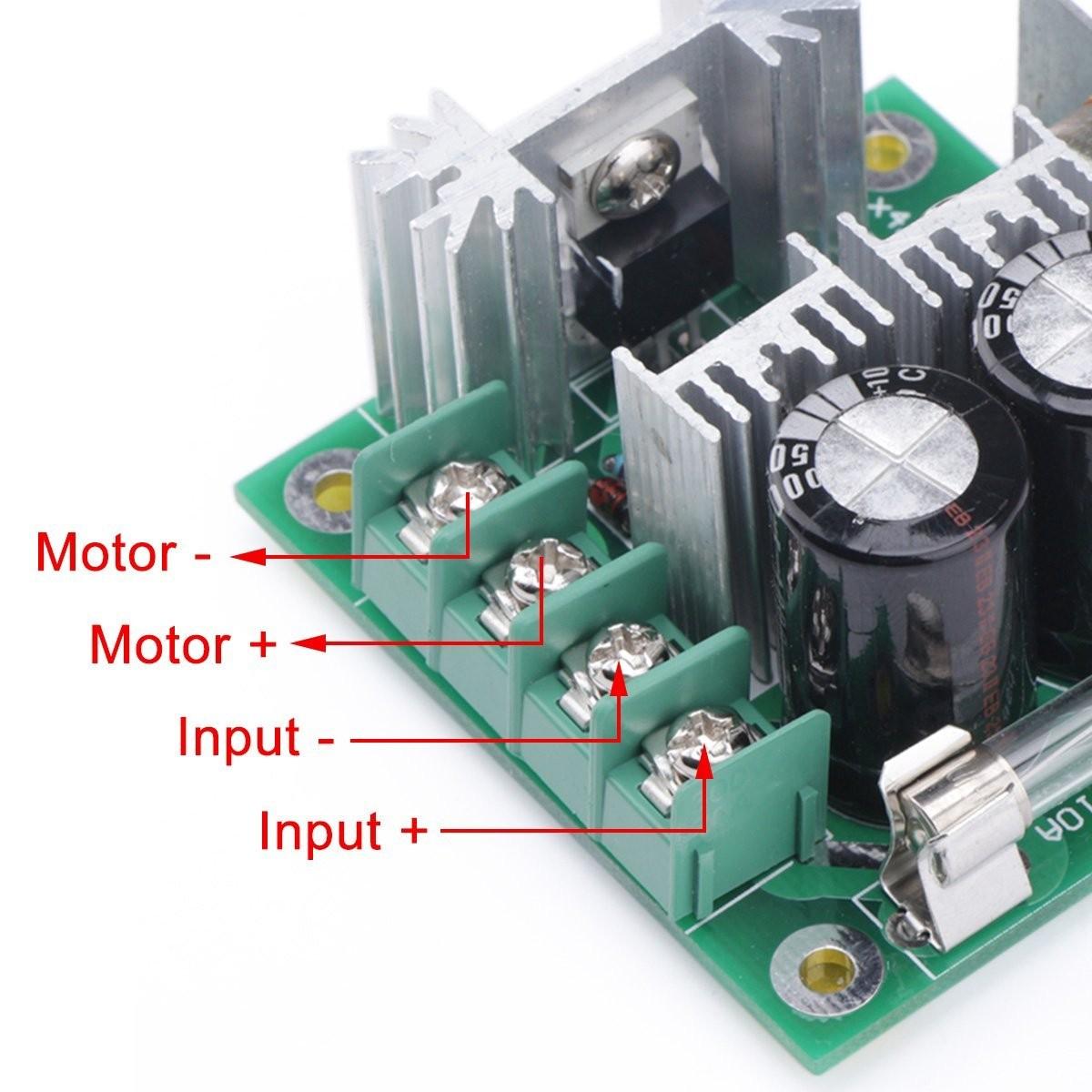 Regulátor otáček pro stejnosměrné DC motory - PWM 12V-40V 10A