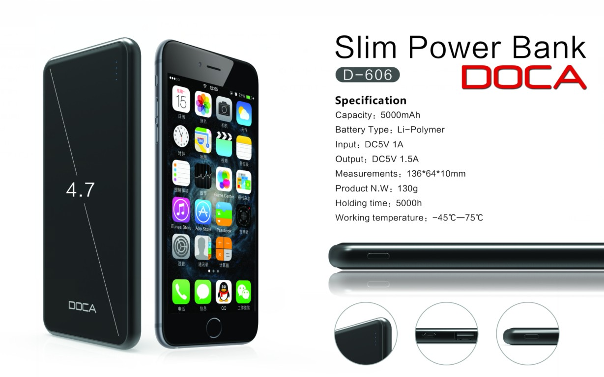 DOCA D606 powerbank 5000mAh