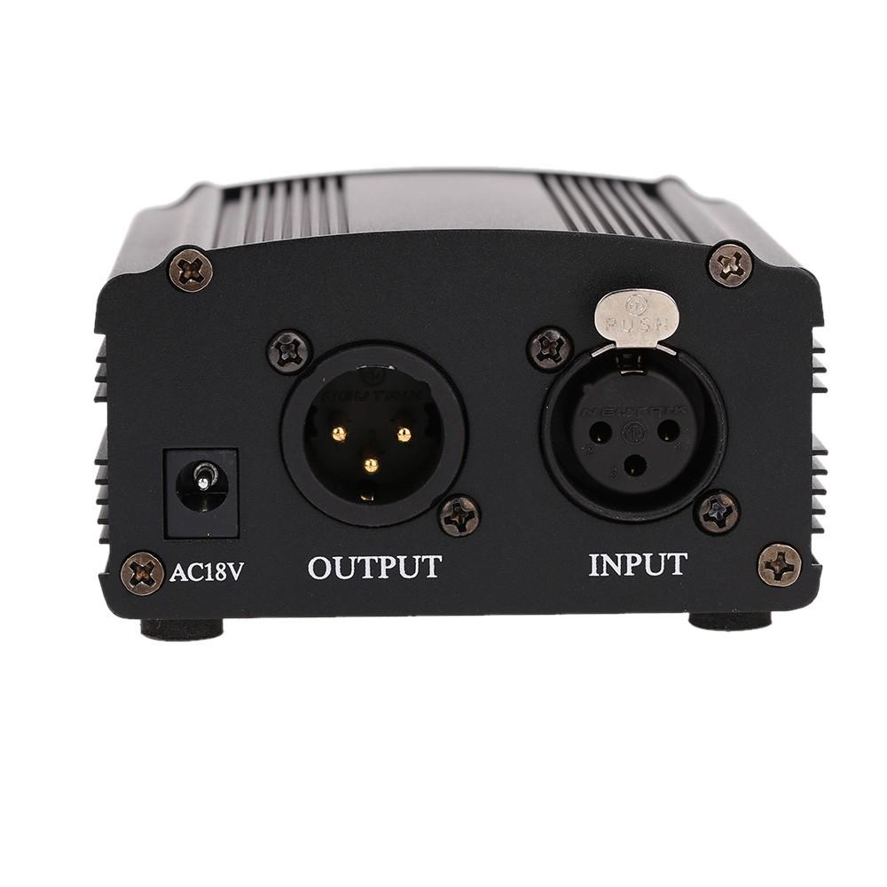 48V Fantomové napájení pro kondenzátorových mikrofonů - phantom power