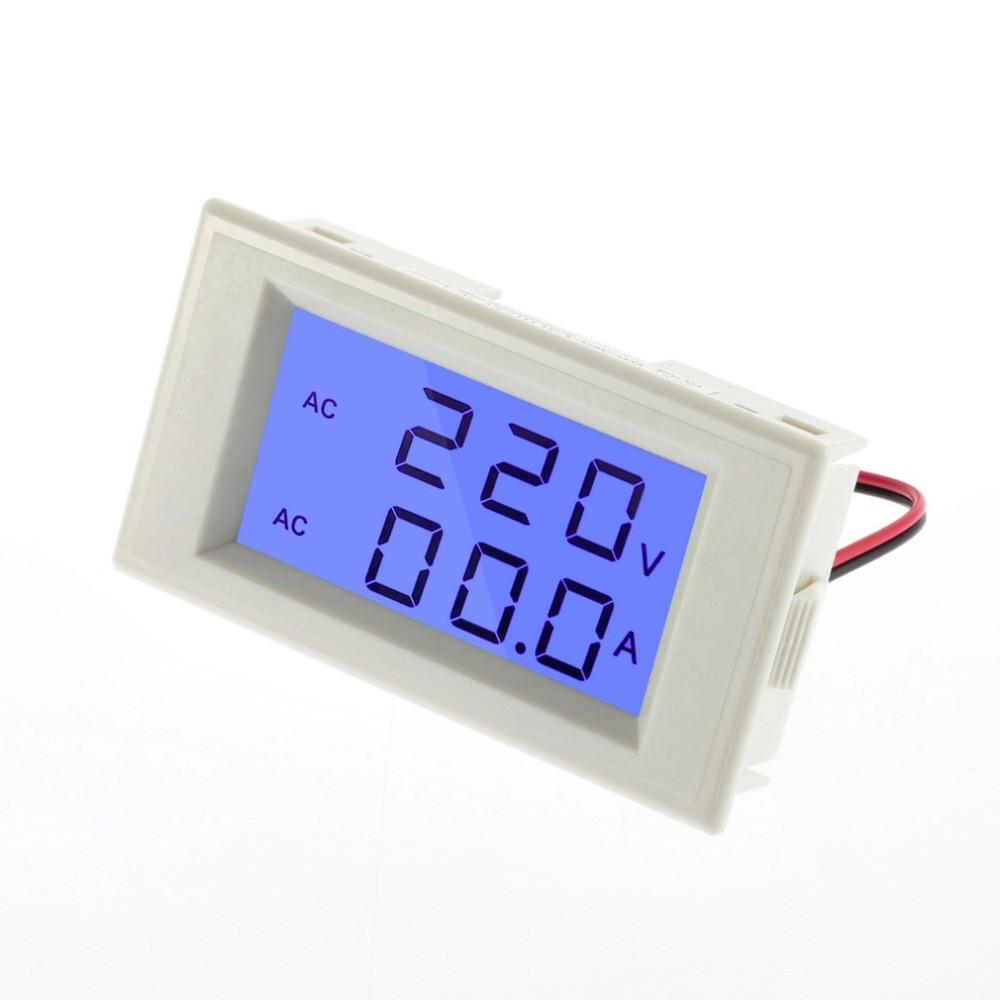 AC 100-300V/100A 2v1 LCD digitální ampérmetr/voltmetr panelový