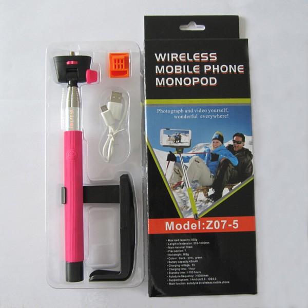 Monopod - teleskopický držiak na selfie tyč se spouští Z07-5