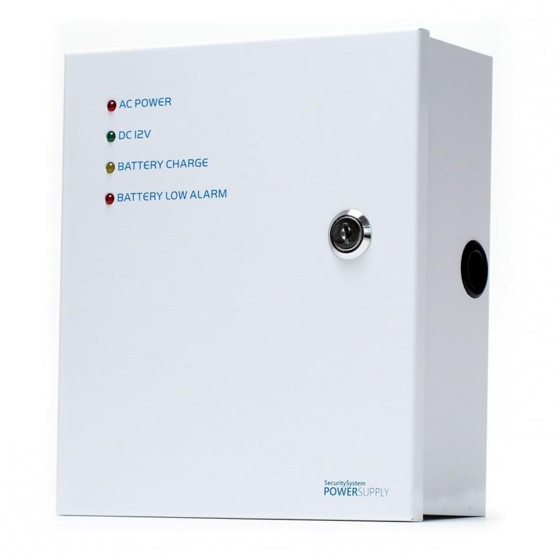 impulsní napájecí zdroj, 12V DC, 4 portů, 3A, nástěnný v instalační skříňce