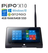 "Mini PC Pipo X10 - 10,8"",  64 GB SSD, 4 GB RAM, HDMI, Wi-Fi, Windows 10 & Android"