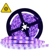 UV LED pásek 2835 SMD, 60leds/m, 12V, IP20, 5m,